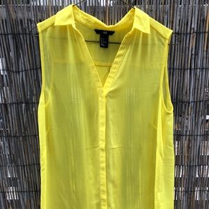 Yellow H&M Button-Up Tank Top